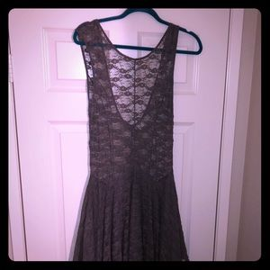 Free People grey lace dress